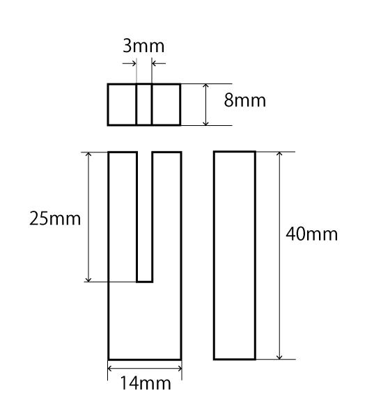 ヒルト三角法3mm