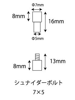 シュナイダーボルトサイズ(7x5)