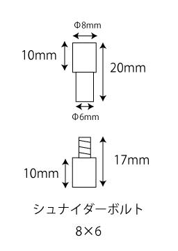 シュナイダーボルトサイズ(8X6)